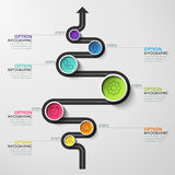 Business circle timeline banner. Modern business infographic. Infographic number options. Winding timeline. Web Design Element. Vector EPS 10 Stock Images