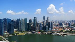 Business city centre in Singapore Stock Photos