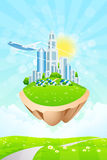 Business City on Island Royalty Free Stock Image