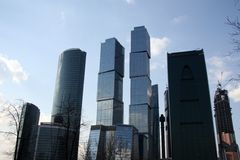 Business the city of Moscow Royalty Free Stock Photo