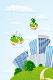 Business city in the sky Stock Image