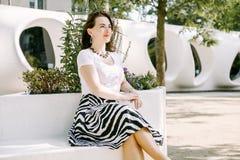 business city woman royaltyfria foton
