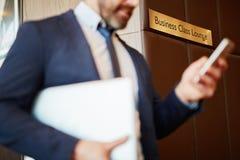 Business-Class-Aufenthaltsraum lizenzfreie stockfotografie
