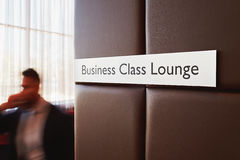Business-Class-Aufenthaltsraum im Flughafen stockfoto