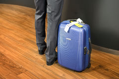 Business class passenger at airport check in Stock Photos