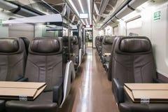 Business class rail wagon Stock Photo