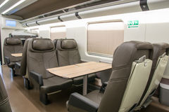 Business class of a railroad car Stock Images