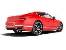 Business class rosso moderno della berlina dell'automobile affinchè viaggio lavorino dietro 3d r illustrazione di stock