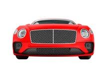 Business class rosso moderno della berlina dell'automobile per il viaggio su lavoro anteriore 3d illustrazione vettoriale