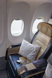 Business class seat Royalty Free Stock Photos