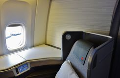 Business class seats on Air Canada Royalty Free Stock Photography