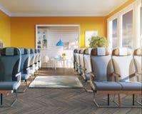 Business-Class-Sitze im Raum Stockfoto