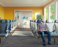 Business-Class-Sitze im Raum Stockfotografie