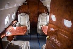 Business class sull'aereo Fotografia Stock