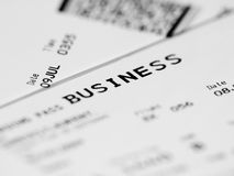 Business class ticket royalty free stock photos