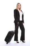Business class travel for beautiful blonde woman Stock Image