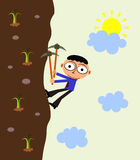 A business climb Stock Images
