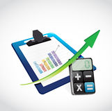 Business clipboard and calculator vector illustration