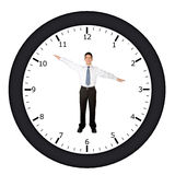 Business clock Royalty Free Stock Photos