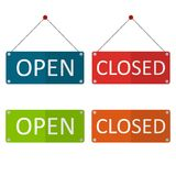 Close open board vector. Business close open board vector Royalty Free Stock Photo