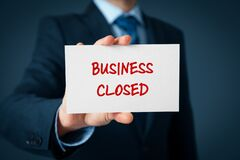 Free Business Closed Bankruptcy Concept Royalty Free Stock Photos - 177912808