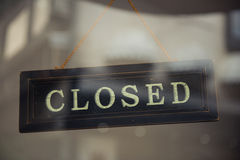 Business Closed Royalty Free Stock Photos