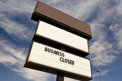 Business Closed Sign Royalty Free Stock Image