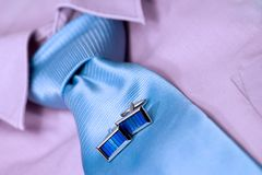 Business Clothes (V). Business clothes. focus on cufflinks Stock Images