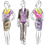 Business Clothing Fashion Women. An image of business clothing fashion women Royalty Free Stock Images