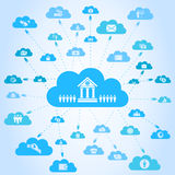 Business a cloud Royalty Free Stock Images
