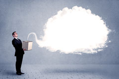 Business cloud in box Stock Photography