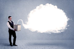 Business cloud in box Stock Image