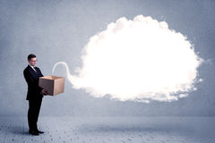 Business cloud in box Royalty Free Stock Image