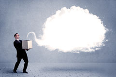 Business cloud in box Stock Photo