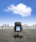 Business cloud computing concept Stock Photography
