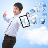 Business and cloud computing concept Royalty Free Stock Photos