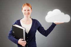 Business and Cloud Computing Royalty Free Stock Photo