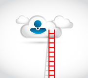 Business cloud ladder illustration design Royalty Free Stock Photos