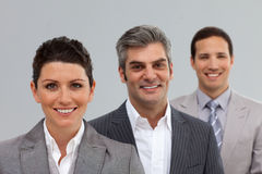 Business co-workers in a row Stock Images