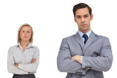 Business co workers standing together Royalty Free Stock Photos