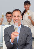 Business co-workers toasting with Champagne Royalty Free Stock Photo