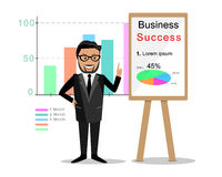 Business coach with board Stock Photo