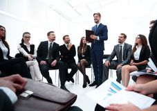 Business coach communicate with the business team. The concept of team building Royalty Free Stock Photos