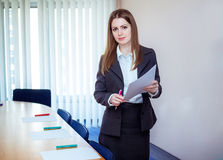 Business coach in a meeting room Stock Photo