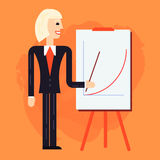 Business coach speaking illustration Royalty Free Stock Photos