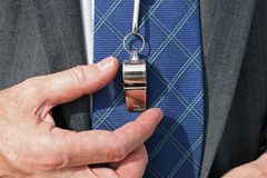 Business Coach With Whistle Royalty Free Stock Photography