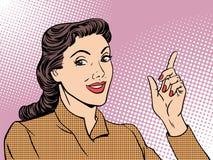 Business coach woman retro royalty free illustration