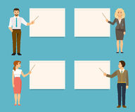 Business coaches. Vector illustration Stock Images