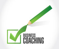Business coaching approval check mark sign concept Royalty Free Stock Image