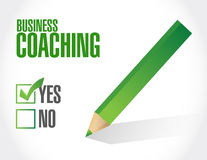 Business coaching approval sign concept Stock Image